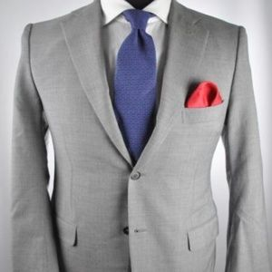 Isaia Napoli Gray Super 100's Modern 2Btn Suit